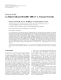 """Báo cáo hóa học: """" Research Article An Adaptive Channel Model for VBLAST in Vehicular Networks"""""""
