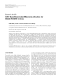 """Báo cáo hóa học: """"Research Article CDIT-Based Constrained Resource Allocation for Mobile WiMAX Systems"""""""