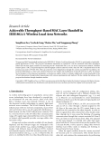 """Báo cáo hóa học: """" Research Article Achievable Throughput-Based MAC Layer Handoff in IEEE 802.11 Wireless Local Area Networks"""""""