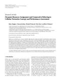 """Báo cáo hóa học: """"Research Article Dynamic Resource Assignment and Cooperative Relaying in Cellular Networks: Concept and Performance Assessment"""""""