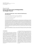 """Báo cáo hóa học: """" Research Article Secrecy Capacity of a Class of Orthogonal Relay Eavesdropper Channels"""""""