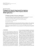 """Báo cáo hóa học: """" Research Article Propagation in Tunnels: Experimental Investigations and Channel Modeling in a Wide"""""""
