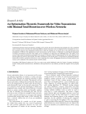 "Báo cáo hóa học: "" Research Article An Optimization Theoretic Framework for Video Transmission with Minimal Total Distortion over Wireless Networks"""