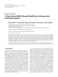 """Báo cáo hóa học: """"Research Article A Time-Variant MIMO Channel Model Directly Parametrised from Measurements"""""""