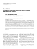 """Báo cáo hóa học: """"Research Article An Empirical Model for Probability of Packet Reception in Vehicular Ad Hoc Networks"""""""
