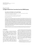 """Báo cáo hóa học: """"Research Article An Opportunistic Error Correction Layer for OFDM Systems"""