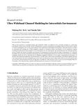 """Báo cáo hóa học: """" Research Article Ultra-Wideband Channel Modeling for Intravehicle Environment"""""""