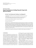 """Báo cáo hóa học: """"Research Article Signal Classification in Fading Channels Using Cyclic Spectral Analysis"""""""
