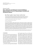 """Báo cáo hóa học: """" Research Article Power Allocation and Admission Control in Multiuser Relay Networks via Convex Programming: Centralized and Distributed Schemes"""""""