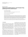 """Báo cáo hóa học: """" Research Article Optimal Channel Width Adaptation, Logical Topology Design, and Routing in Wireless Mesh Networks"""""""