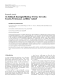 "Báo cáo hóa học: ""Research Article On Multipath Routing in Multihop Wireless Networks: Security, Performance, and Their Tradeoff"""