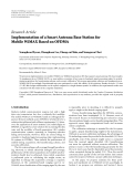 """Báo cáo hóa học: """"Research Article Implementation of a Smart Antenna Base Station for Mobile WiMAX Based on OFDMA"""""""
