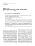 """Báo cáo hóa học: """"Research Article Performance and Reliability of DSRC Vehicular Safety Communication: A Formal Analysis"""""""