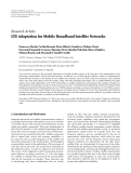 """Báo cáo hóa học: """"Research Article LTE Adaptation for Mobile Broadband Satellite Networks"""""""