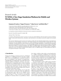 """Báo cáo hóa học: """"Research Article W-NINE: A Two-Stage Emulation Platform for Mobile and Wireless Systems"""""""