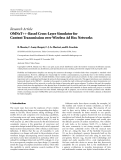 """Báo cáo hóa học: """"Research Article OMNeT++-Based Cross-Layer Simulator for Content Transmission over Wireless Ad Hoc Networks"""""""