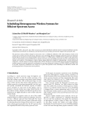 """Báo cáo hóa học: """" Research Article Scheduling Heterogeneous Wireless Systems for Efficient Spectrum Access"""""""