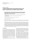 """Báo cáo hóa học: """" Research Article A MIMO-OFDM Testbed, Channel Measurements, and System Considerations for Outdoor-Indoor WiMAX"""""""