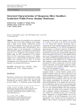 """Báo cáo hóa học: """" Structural Characterization of Mesoporous Silica Nanofibers Synthesized Within Porous Alumina Membranes"""""""