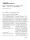"""Báo cáo hóa học: """"   Preparation of Ultrafine Fe–Pt Alloy and Au Nanoparticle Colloids by KrF Excimer Laser Solution Photolysis"""""""