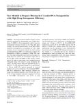 "Báo cáo hóa học: "" New Method to Prepare Mitomycin C Loaded PLA-Nanoparticles with High Drug Entrapment Efficiency"""