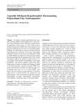 """Báo cáo hóa học: """"  Vegetable Oil-Based Hyperbranched Thermosetting Polyurethane/Clay Nanocomposites"""""""