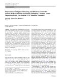 "Báo cáo hóa học: ""Preparation of Aligned Ultra-long and Diameter-controlled Silicon Oxide Nanotubes by Plasma Enhanced Chemical Vapor Deposition Using Electrospun PVP Nanofiber Template"""