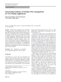 """Báo cáo hóa học: """"Nanocasting Synthesis of Ultrafine WO3 Nanoparticles for Gas Sensing Applications"""""""