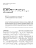 """Báo cáo hóa học: """"  Research Article High Altitude Platforms for Disaster Recovery: Capabilities, Strategies, and Techniques for Emergency Telecommunications"""""""