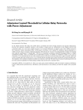 """Báo cáo hóa học: """" Research Article Admission Control Threshold in Cellular Relay Networks with Power Adjustment"""""""