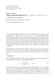 """vResearch Article Global Asymptotic Behavior of yn+1 = (pyn + yn−1 )/(r + qyn + yn−1 )"""""""