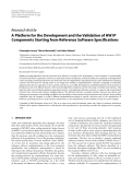 """Báo cáo hóa học: """" Research Article A Platform for the Development and the Validation of HW IP Components Starting from Reference Software Specifications"""""""