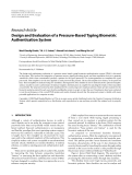 """Báo cáo hóa học: """"  Research Article Design and Evaluation of a Pressure-Based Typing Biometric Authentication System"""""""