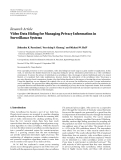"""Báo cáo hóa học: """" Research Article Video Data Hiding for Managing Privacy Information in Surveillance Systems"""""""