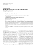 """v Research Article Are the Wavelet Transforms the Best Filter Banks for Image Compression?"""""""