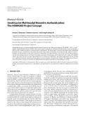 "Báo cáo hóa học: ""  Research Article Unobtrusive Multimodal Biometric Authentication: The HUMABIO Project Concept"""
