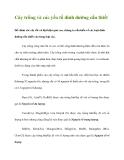 Cây trồng và các yếu tố dinh dưỡng cần thiết