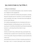 Quy trình kỹ thuật cây Ngô (Phần 2)