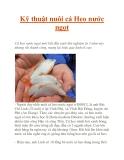Kỹ thuật nuôi cá Heo nước ngọt