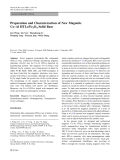 """Báo cáo hóa học: """"Preparation and Characteraction of New Magnetic Co–Al HTLc/Fe3O4 Solid Base"""""""