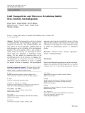 "Báo cáo hóa học: ""  Gold Nanoparticles and Microwave Irradiation Inhibit Beta-Amyloid Amyloidogenesis"""
