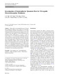 """Báo cáo hóa học: """"  Investigation of Semiconductor Quantum Dots for Waveguide Electroabsorption Modula"""""""