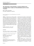 """Báo cáo hóa học: """"  The Fabrication of Nano-Particles in Aqueous Solution From Oxyfluoride Glass Ceramics by Thermal Induction and Corrosion Treatment"""""""