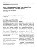 "Báo cáo hóa học: ""  In situ Polymerization of Multi-Walled Carbon Nanotube/Nylon-6 Nanocomposites and Their Electrospun Nanofibers"""