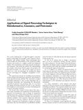 "Báo cáo hóa học: "" Editorial Applications of Signal Processing Techniques to Bioinformatics, Genomics, and Proteomics"""