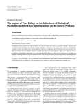 """Báo cáo hóa học: """" Research Article The Impact of Time Delays on the Robustness of Biological Oscillators and the Effect of Bifurcations on the Inverse Problem"""""""