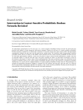 """Báo cáo hóa học: """"  Research Article Intervention in Context-Sensitive Probabilistic Boolean Networks Revisited'"""