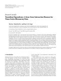 """Báo cáo hóa học: """"  Research Article Transition Dependency: A Gene-Gene Interaction Measure for Times Series Microarray Data"""""""