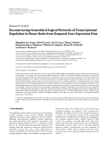 """Báo cáo hóa học: """" Research Article Reconstructing Generalized Logical Networks of Transcriptional Regulation in Mouse Brain from Temporal Gene Expression Data?"""""""