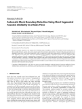 """Báo cáo hóa học: """"  Research Article Automatic Music Boundary Detection Using Short Segmental Acoustic Similarity in a Music Piece"""""""